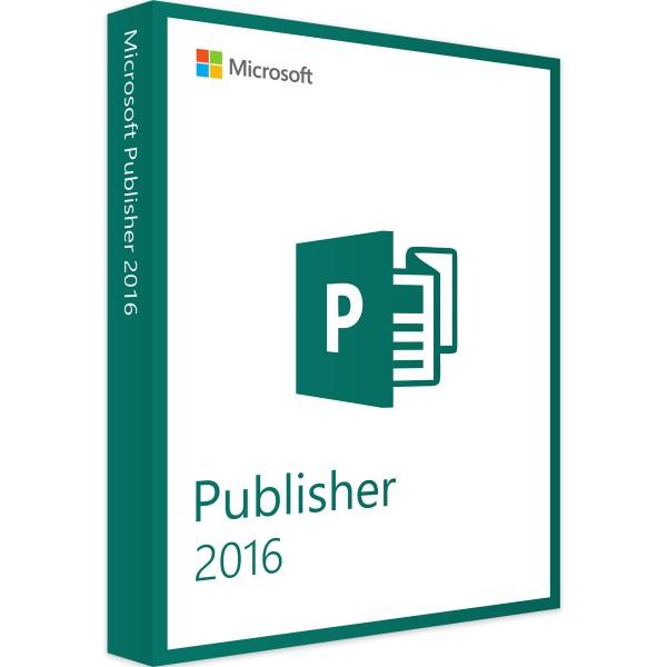 Microsoft Publisher 2016 | für Windows | 32/64 Bit | 1PC | Sofortdownload