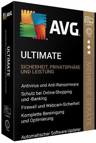 AVG Ultimate 2021   Für Windows/Mac   10 Geräte