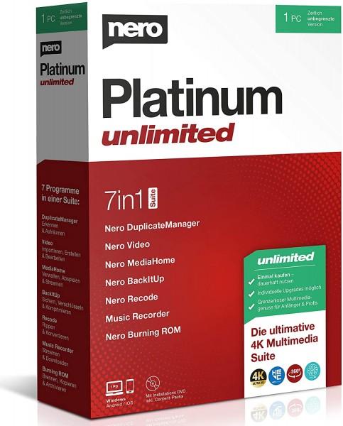 Nero Platinum 2021 Unlimited | für Windows