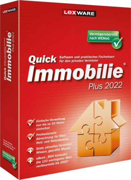 Lexware QuickImmobilie Plus 2022 | für Windows