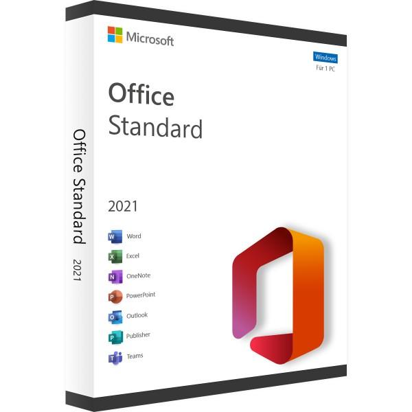 Microsoft Office 2021 Standard | für Windows 1 - 5 Benutzer