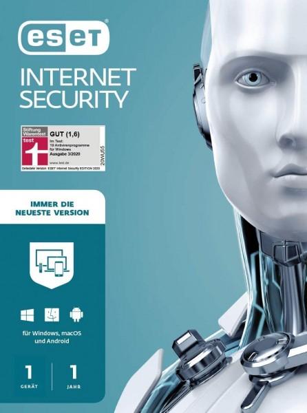 ESET Internet Security 2021 | für PC/Mac/Mobilgeräte