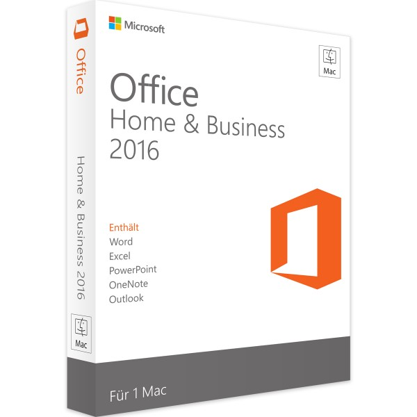 Microsoft Office 2016 Home and Business   für Mac   Retail