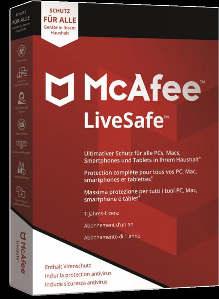 McAfee LiveSafe 2021 | Unlimited Geräte